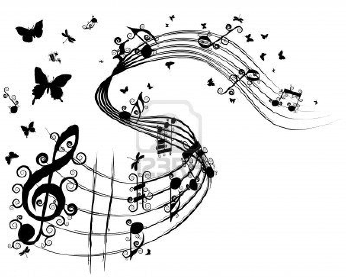 dibujos de notas musicales a lapiz Buscar con Google