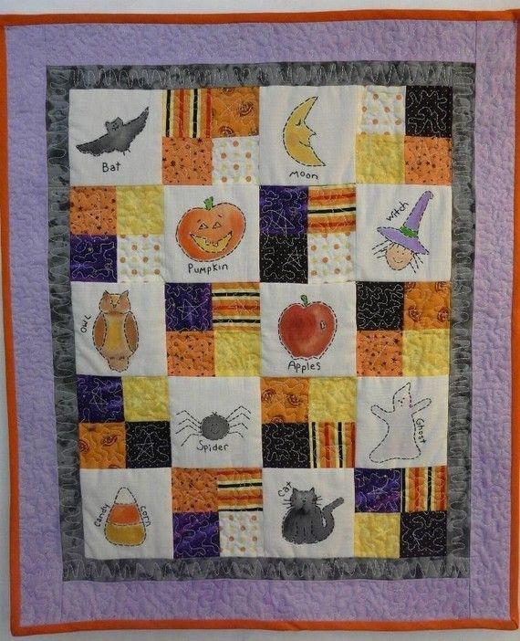Halloween Sampler embroidery Quilt PDF Pattern by Hudsonsholidays, $6.99