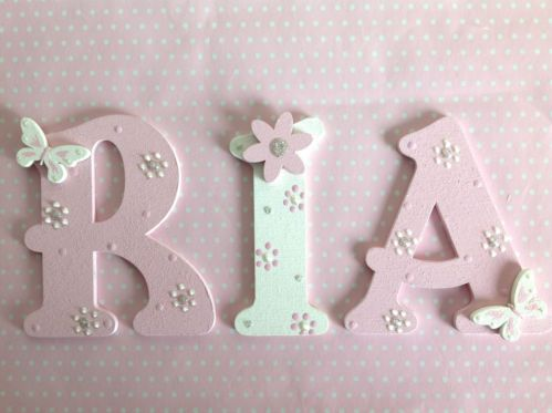 Lettere Di Legno Da Appendere : Hand painted cm wooden letter wall door children birthday gift