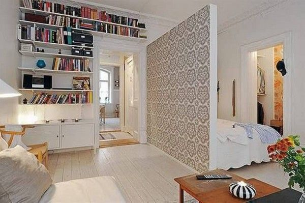 Merveilleux With Divider Cool Studio Apartment Design
