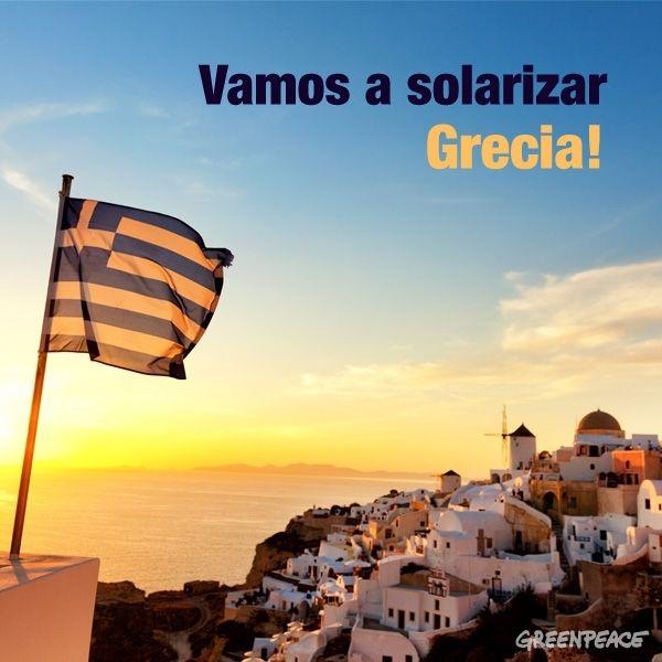 ¡Solariza Grecia! ¡Ayúdales a tener energía!