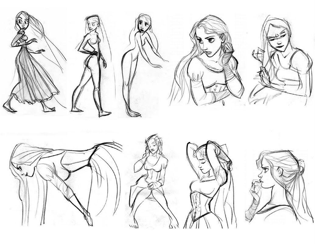 "Tangled Character Design Development : ""tangled walt disney animation studios"