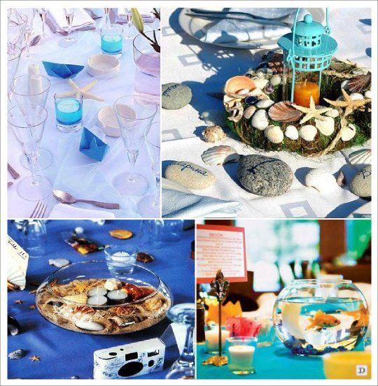 decoration mariage mer centre de table lanterne origami bateau