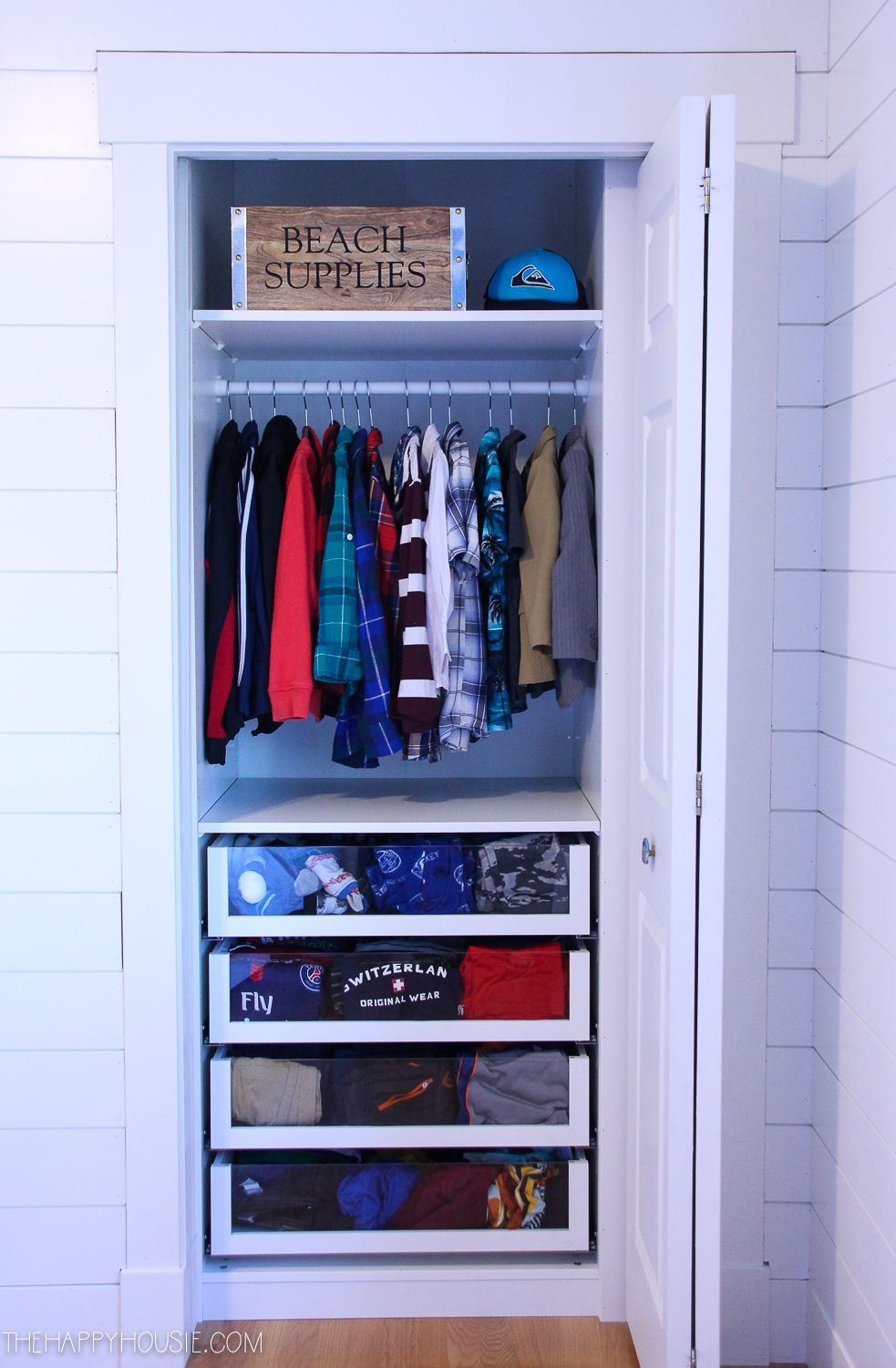 Small Reach In Closet Makeover With Ikea PAX | The Happy Housie
