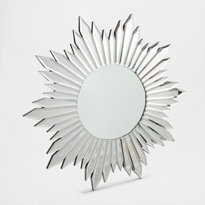 Espejo de vidrio con forma de sol novedades zara home for Espejos decorativos con forma de sol
