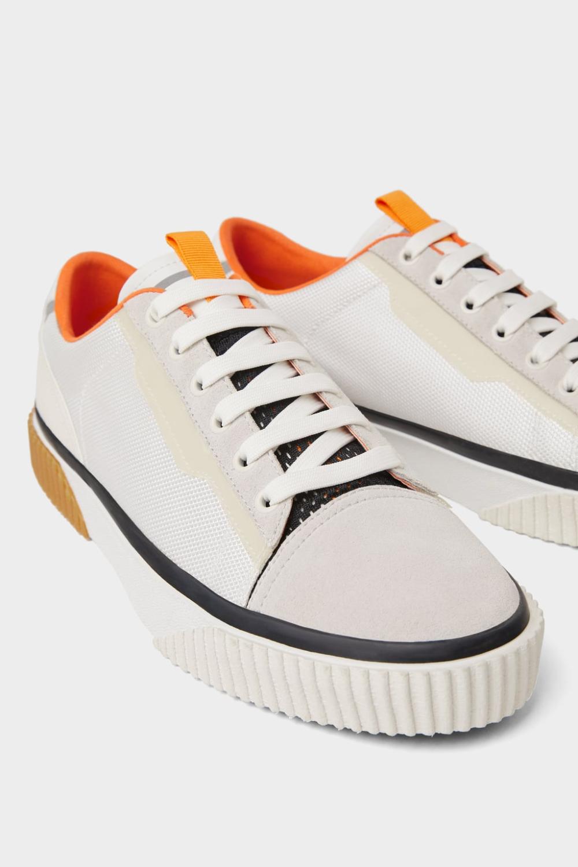 Buty Sportowe Z Laczonych Materialow Zara Polska Sneakers Multicolor Sneakers White Plimsolls