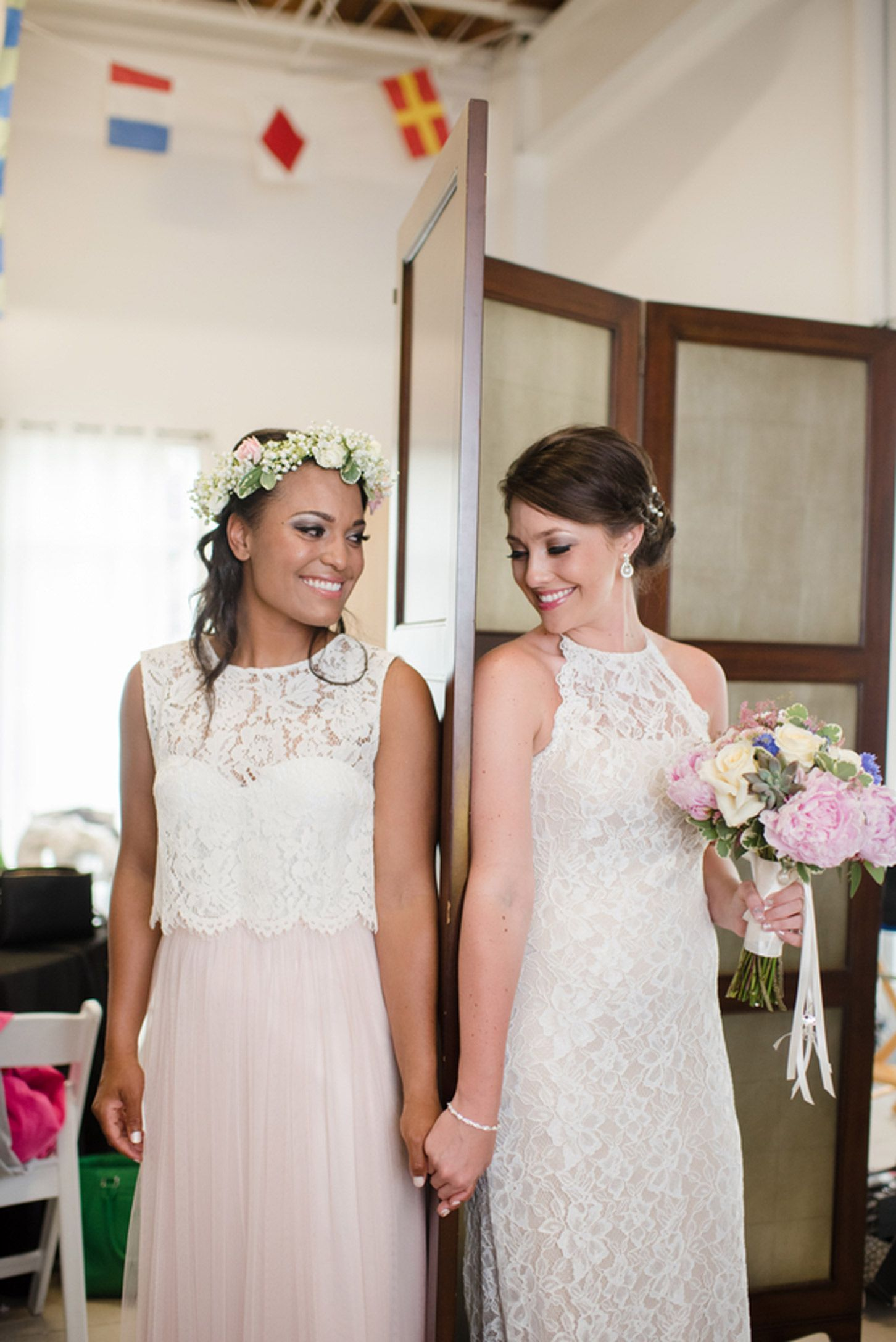 Alyssa & Megan s Coastal Celebration 2 Brides 2 Be …