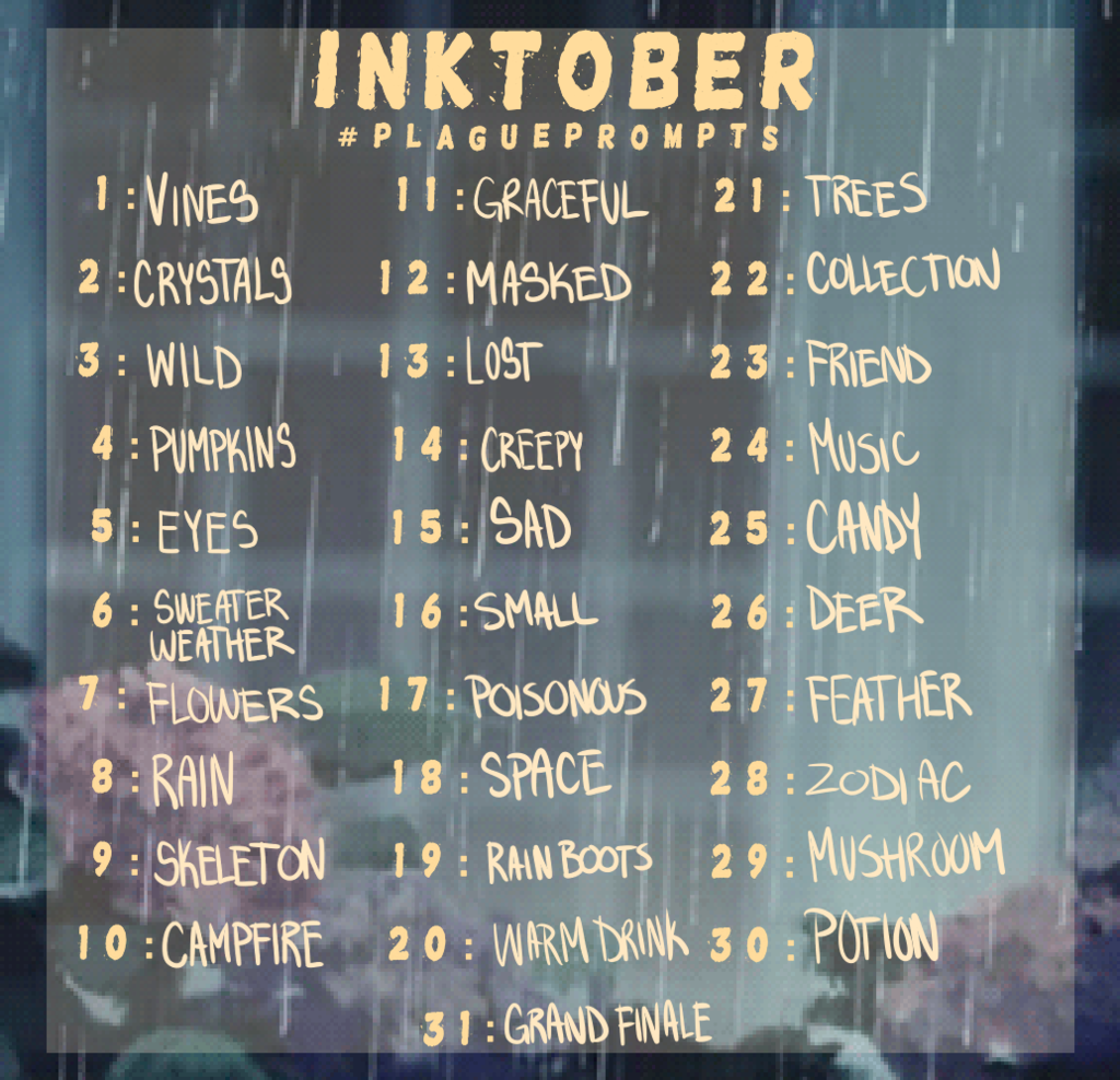 Image result for inktober prompts #inktober2019 Image result for inktober prompts #drawingprompts