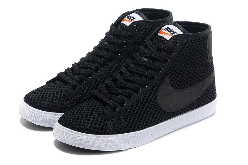 Nike Blazer Mi Mesh Baskets Noires Hautes