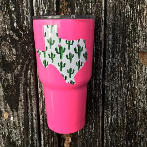 Texas cactus decal