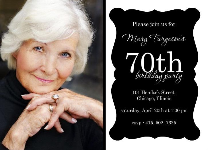 Inexpensive 70th Birthday Invitations