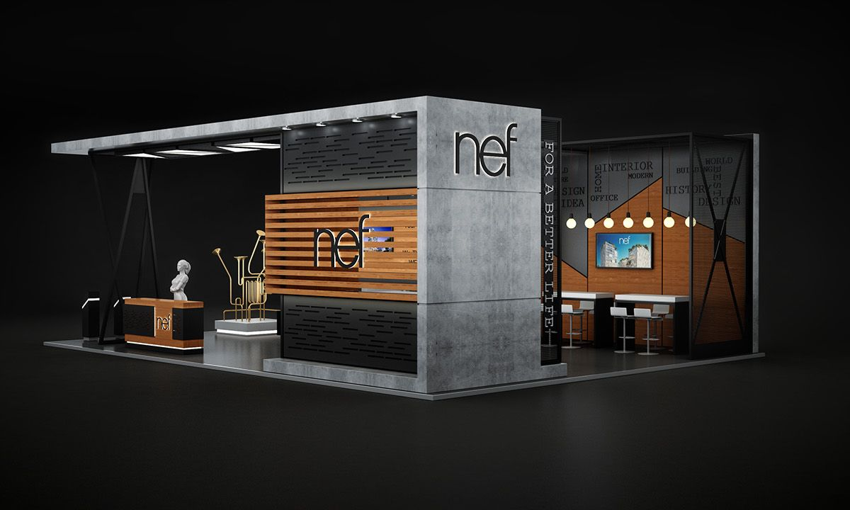 Nef Dubai Cityscape Exhibition On Behance Exhibition Stall Design Exhibition Stand Design Exhibition Booth Design