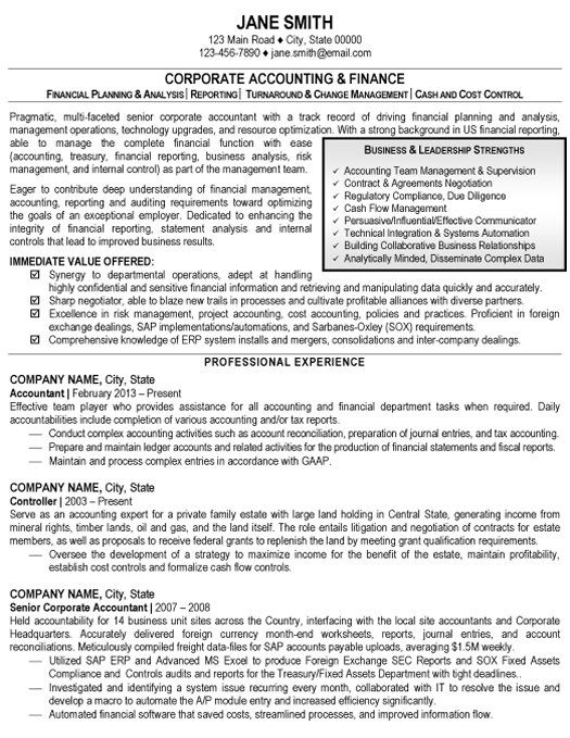 Click here to download this Accounting and Finance Resume Sample ...