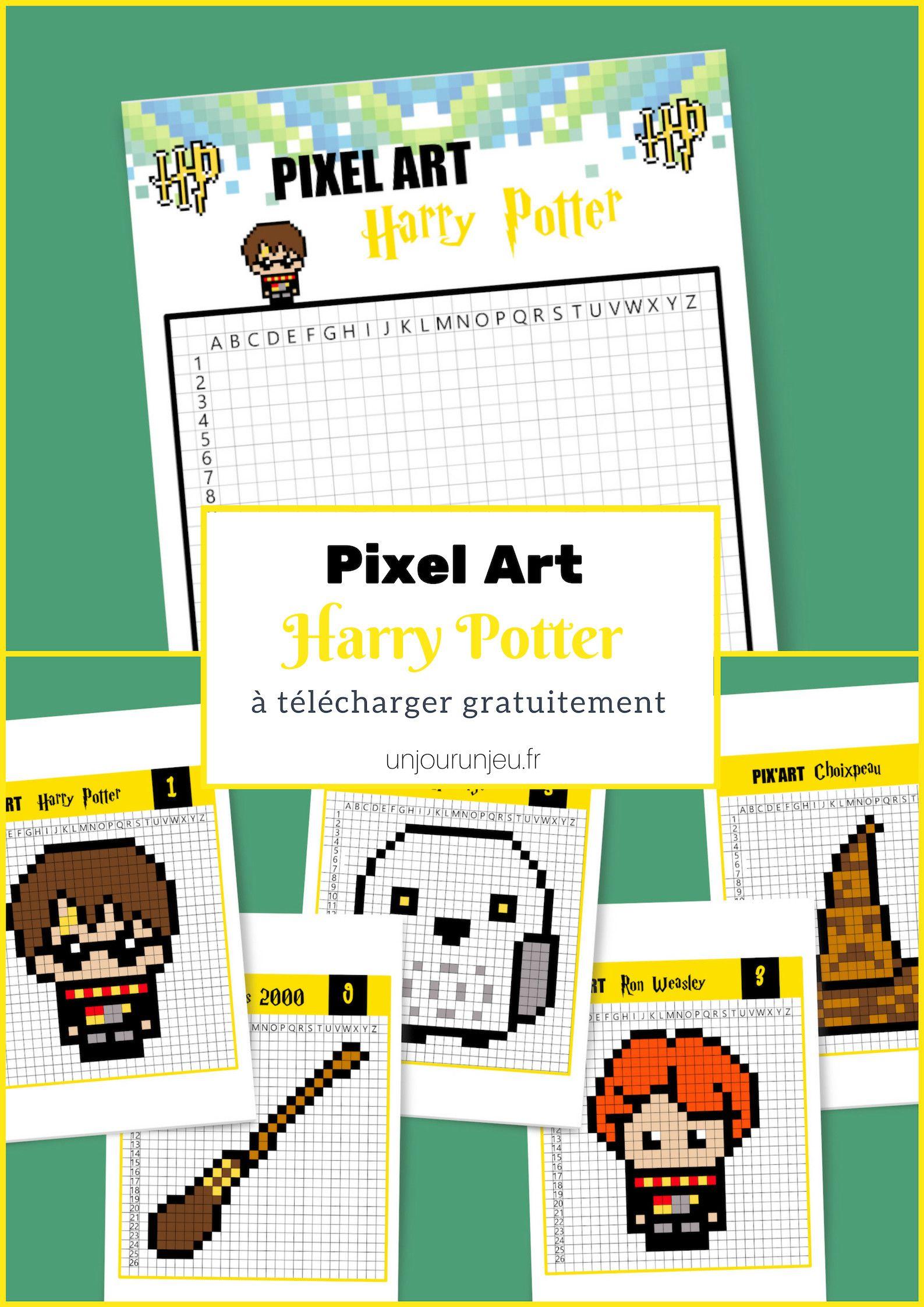 Pixel Art Harry Potter C Est Magique Pixel Art Harry Potter