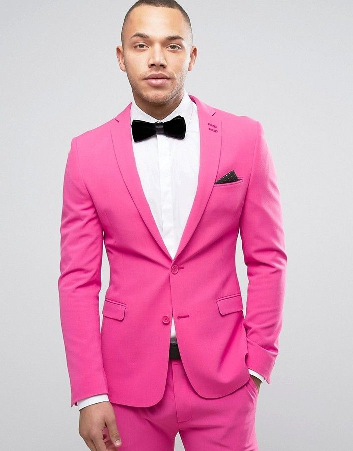 Asos Super Skinny Prom Suit Jacket in Pink | Suit jackets and Products