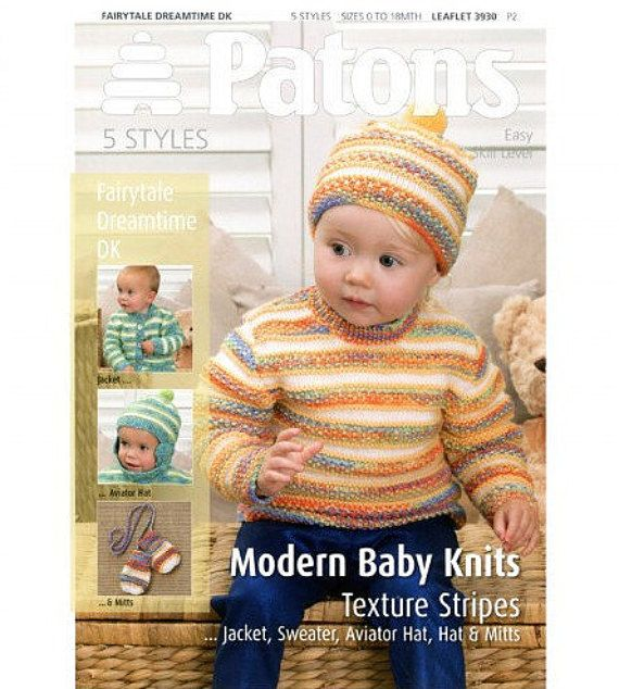 Patons Baby Knitting Pattern 3930 Easy By Handmadelcreations For