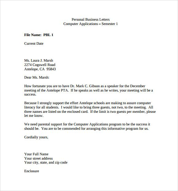 Making A Business Letter from i.pinimg.com