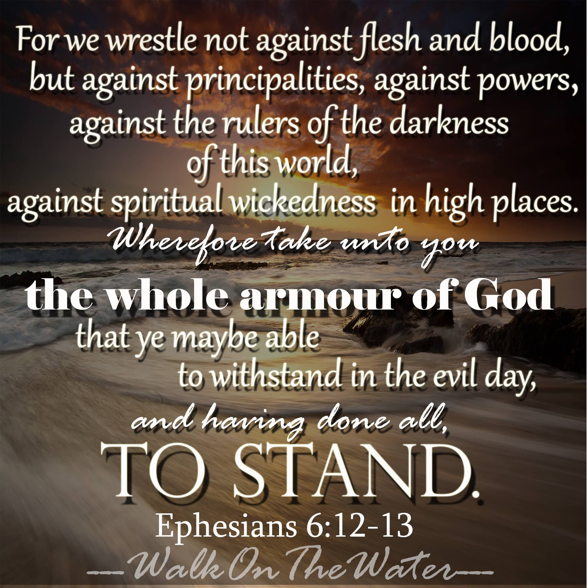 for our struggle is not against flesh and blood but against the