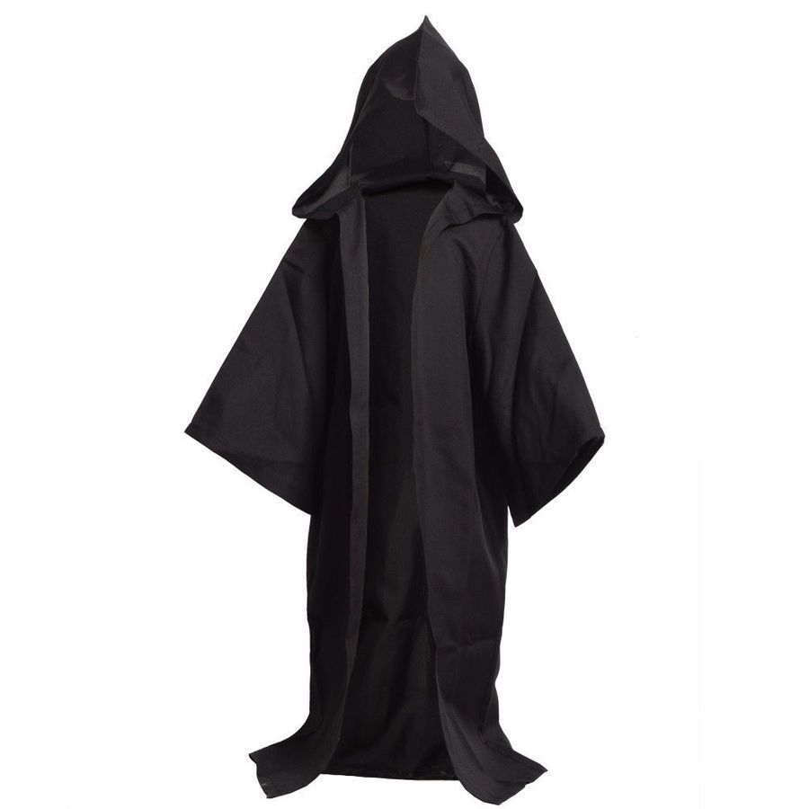 Star Wars JEDI Adult Kids Costume Child Hooded Robe Cloak Cape Party