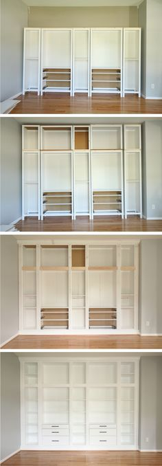 Popular IKEA HACK DIY BUILT IN BOOKCASE with Hemnes furniture Luxury - Modern ikea built in cabinets Photo