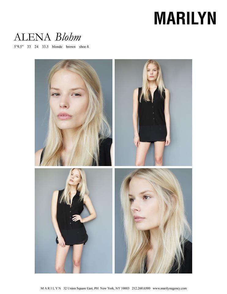 Alena Blohm Marilyn July 2012 Polaroids Pinterest Models Pose