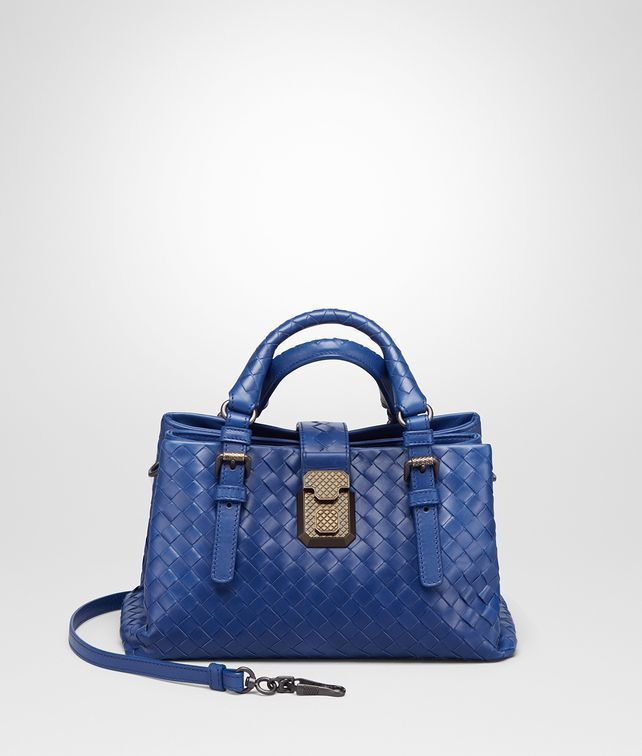 Cobalt Blue Intrecciato Calf Mini Roma Bag Bottega Veneta Hobo Purses 8a79d259ebec7