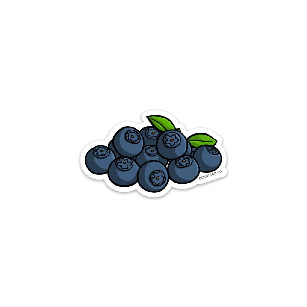 The Blueberries Sticker in 2020 | Food stickers, Tumbler ...