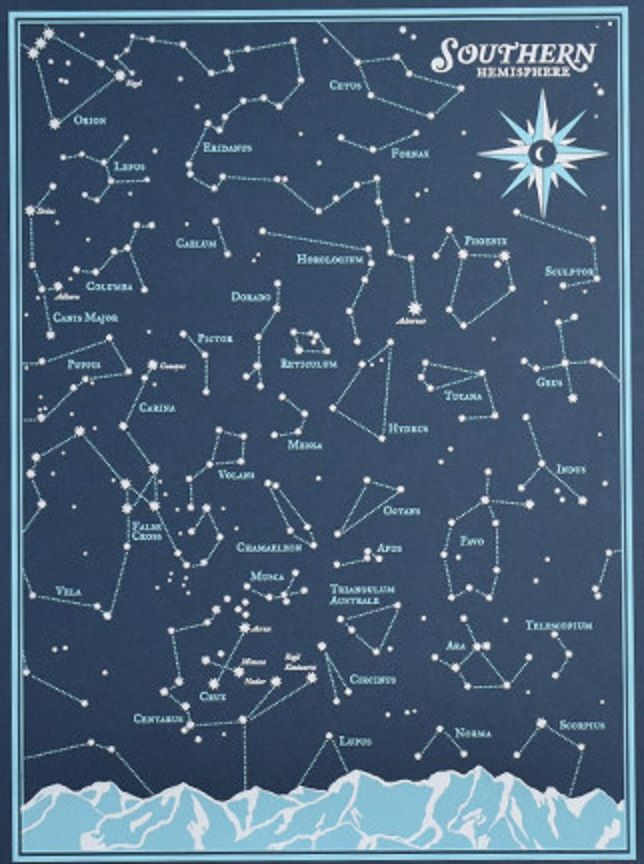 Night Sky Constellations Northern Hemisphere  Star Chart For The