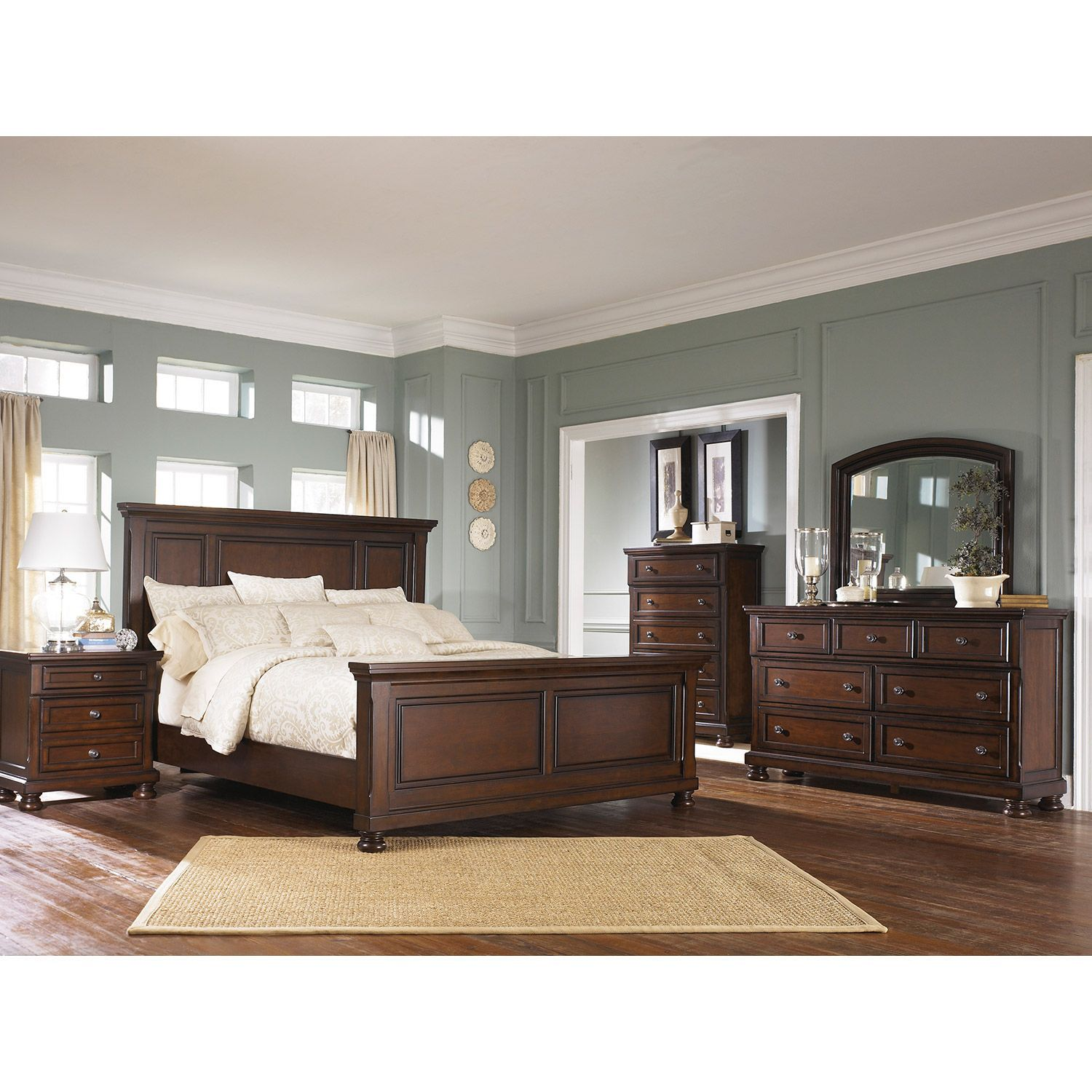 porter 5 piece bedroom set b697 5pcset master pinterest bedrooms