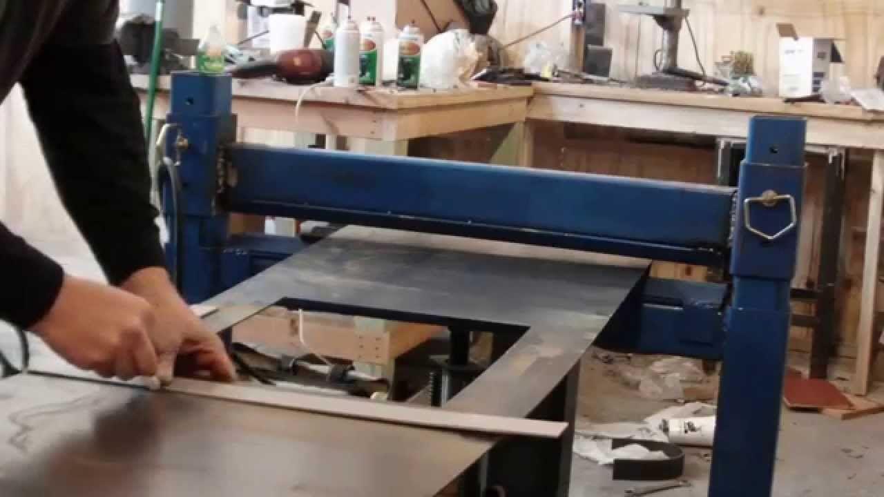 homemade press brake with reverse ram operation Press
