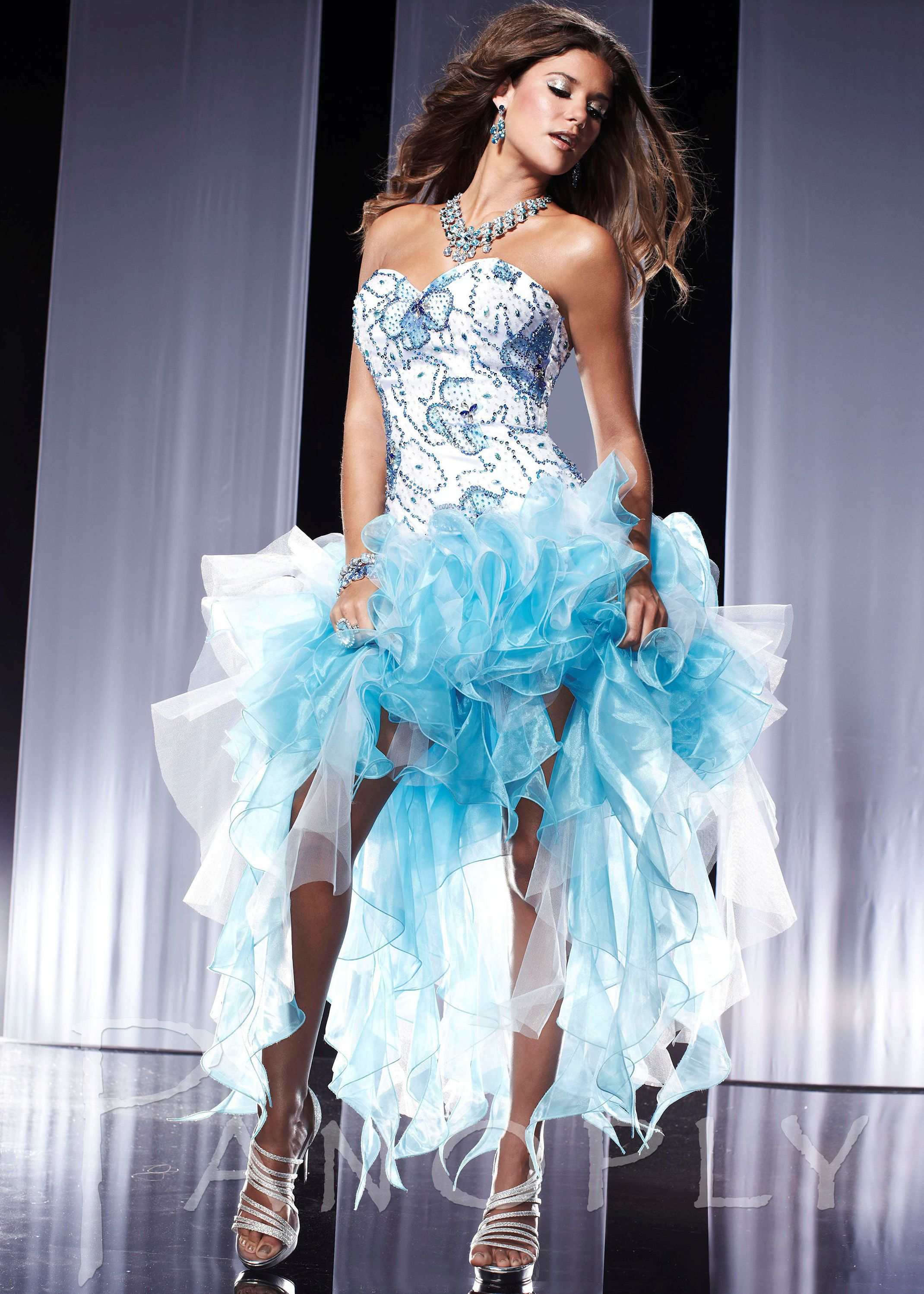 Free shipping on 2013 prom dresses, Panoply 14559 aqua blue ...