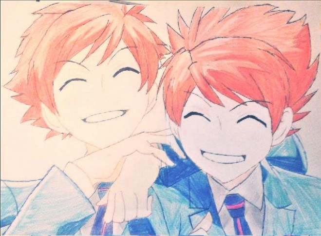 hikaru and kaoru from ouran highschoolhostclub drawing by me it was very hard to draw them anime hitachiin ouranhighschoolhostclub hikaruhitachiin