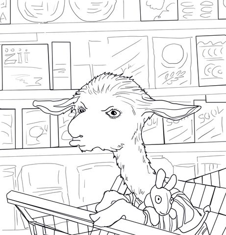 llama llama coloring pages Llama Llama Mad at Mama Coloring page | Coloring and crafts  llama llama coloring pages
