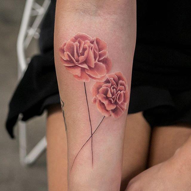 Carnations  @bangbangnyc #bangbangtattoo #bangbangforever