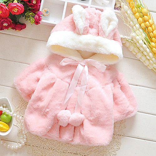 Abrigo pelo conejo rosa
