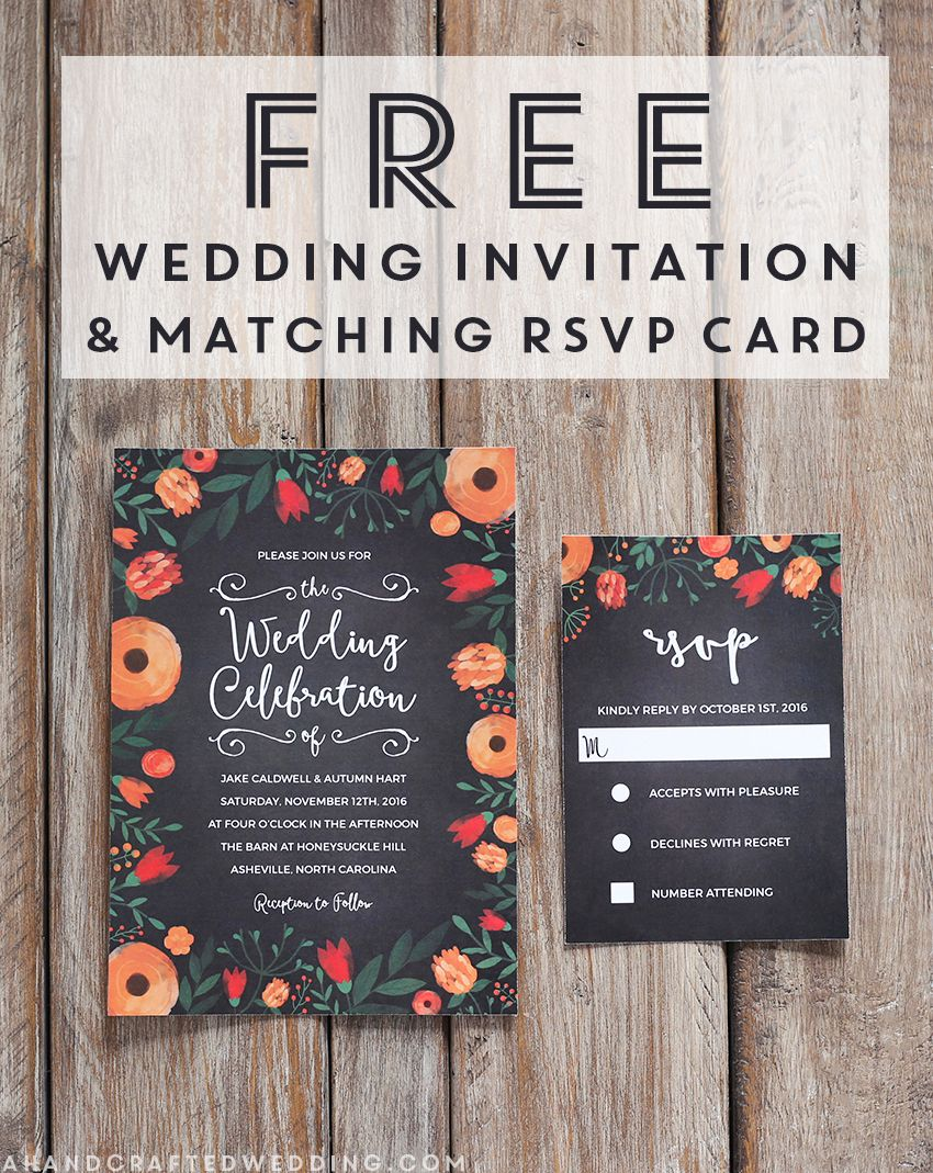 FREE Whimsical Wedding Invitation Template – Free Wedding Invitation Card Template