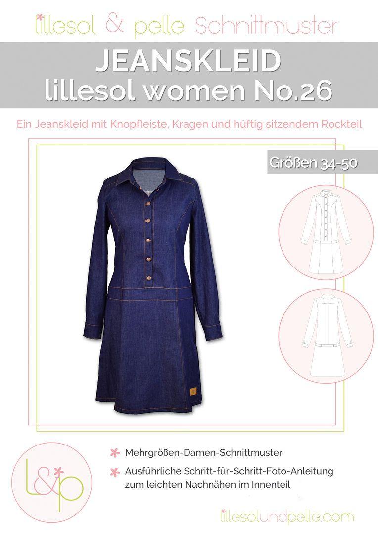 Ebook / Schnittmuster lillesol women No.26 Jeanskleid | habenwill ...