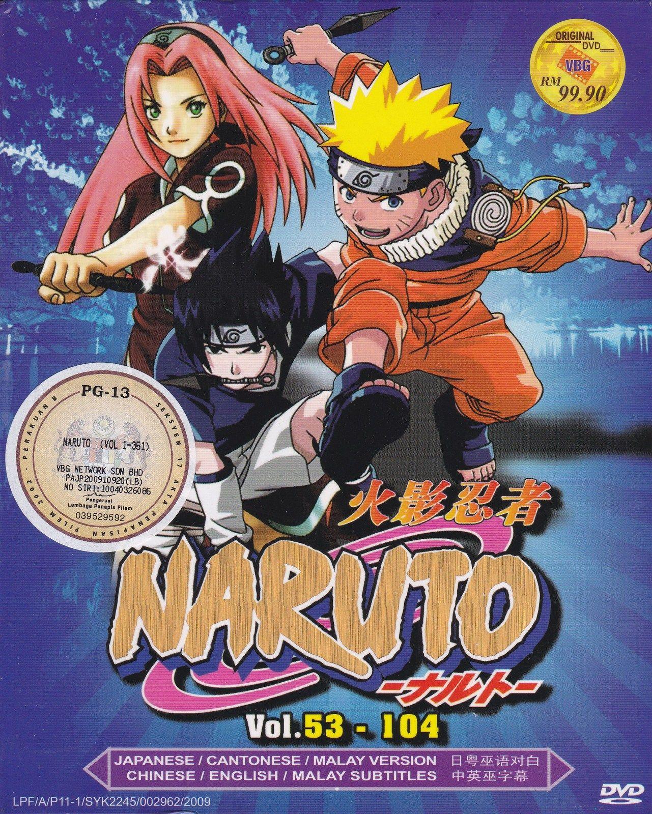 DVD ANIME NARUTO Season 2-3 Vol.53-104 Box Set 52 Episodes