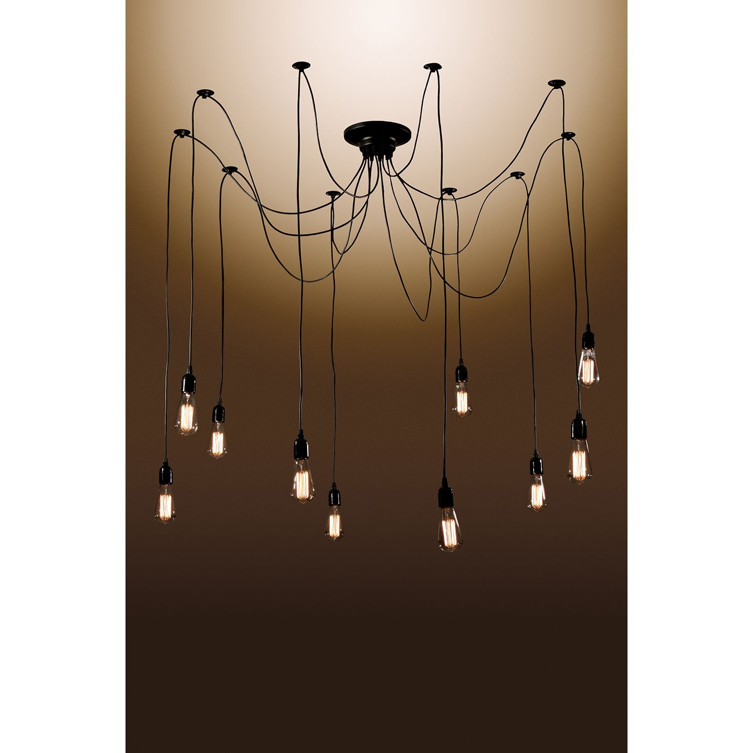 Zendaya 10 bulb Edison Chandelier with Bulbs Warehouse of Tiffany s