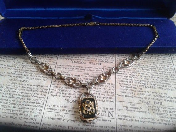 Photo of WWII Sweetheart Y Necklace with Great Seal of the United Sta…