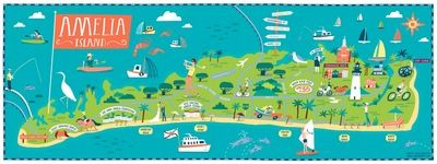 Amelia Island Illustration from 904 Paper Co maps