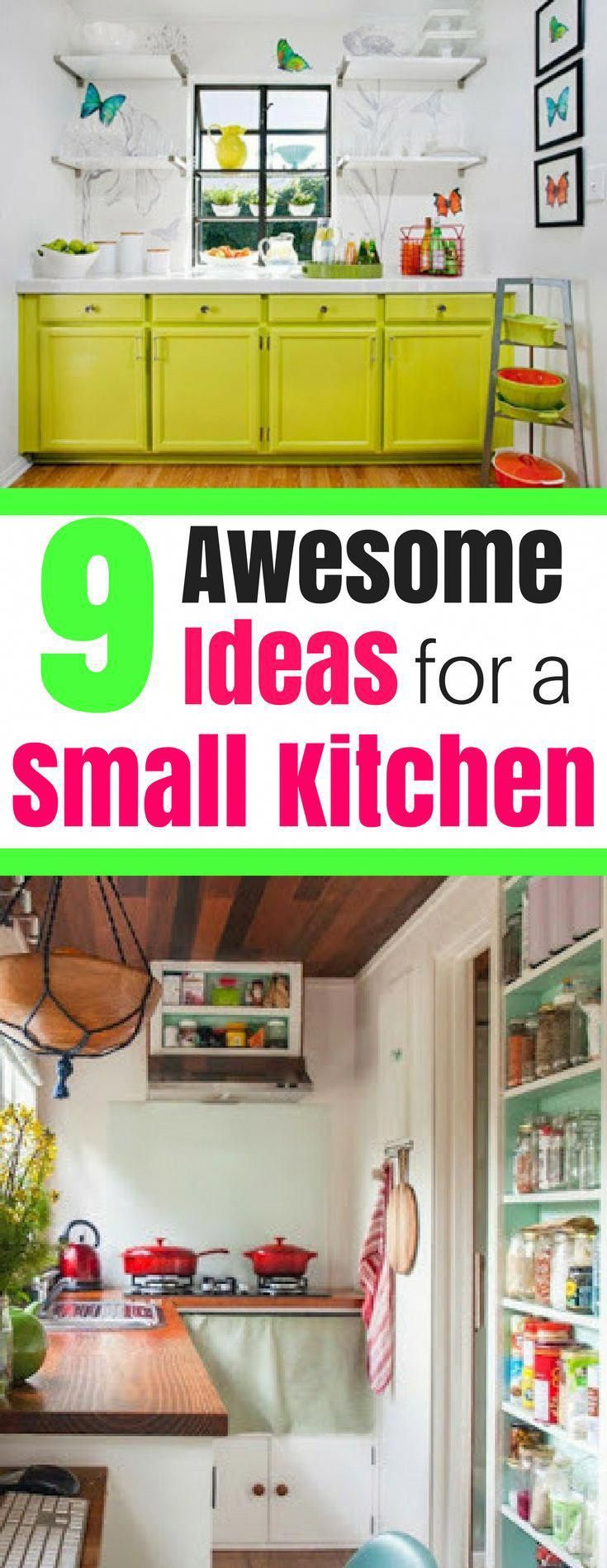 9 Awesome Ideas for a Small Kitchen kitchenideas