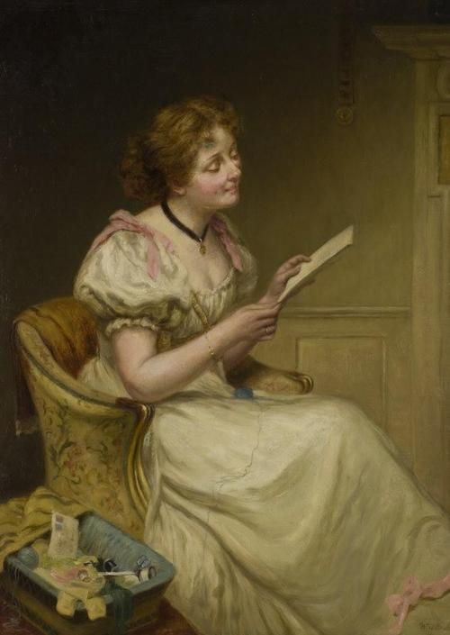 William Quiller Orchardson (1832-1910) - The letter