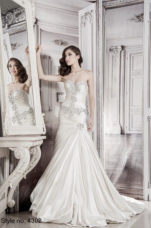 Pnina Tornai Sweetheart A-Line Gown in Silk Satin | KleinfeldBridal ...