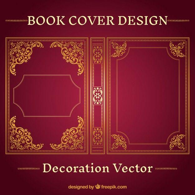 diseo de portada del libro ornamental vector gratis
