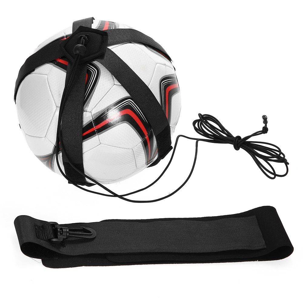 Sports Soccer Ball Practice Professional Belt Training Equipment Soccer Trainer Kids Adults Hand Free Football Practic Soccer Trainer Free Football Soccer Ball