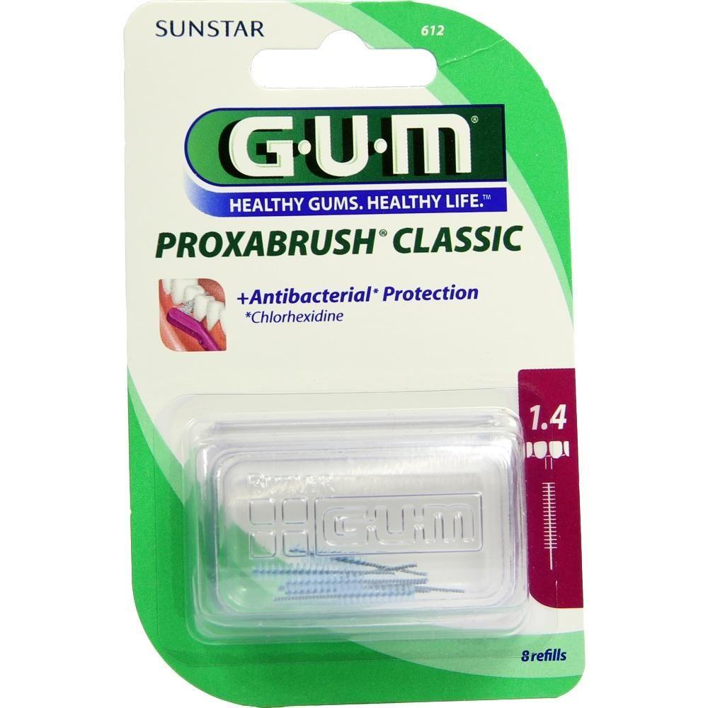 GUM Proxabrush Ersatzbürsten 0,7 mm Kerze:   Packungsinhalt: 8 St Zahnbürste PZN: 01840877 Hersteller: Sunstar Deutschland GmbH Preis:…