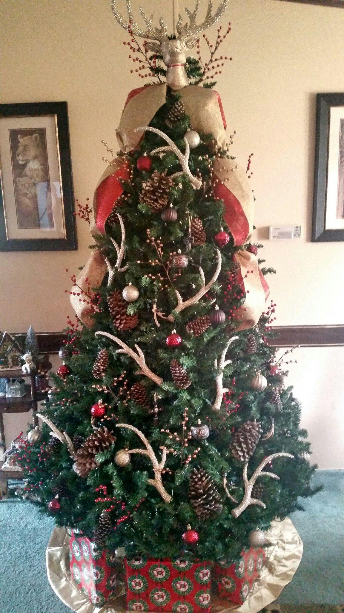 My Beautiful Deer Antler Christmas Tree