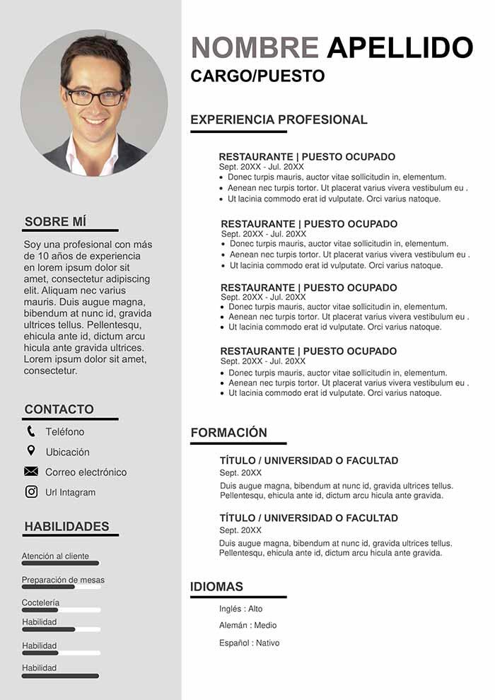 Hoja De Vida Para Administrador De Empresas Modelo Gratis Plantillas De Currículum Vítae Para Word Hojas De Vida Creativas Tipos De Curriculum