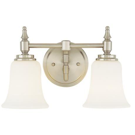 """Amazing Darcy Brushed Steel 13 3 4"""" Wide Two Light Bathroom Fixture LampsPlus Lighting Pinterest Unique - Elegant 3 light bathroom fixture Idea"""